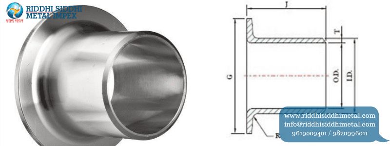 Buttweld Pipe Fittings Stub End lap joint Manufacturers in India