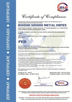 riddhi-siddhi-metal-impex-ped-certificate
